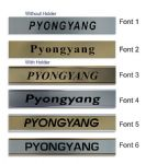 Pyongyang Clock Name Plate |World Time Zone City Wall clocks Sign custom Plaque